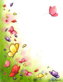 Flowers & Butterflies 5 by Maria Bogade