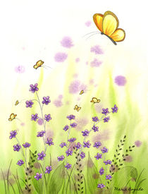 Flowers & Butterflies 3 by Maria Bogade