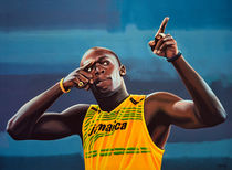 Usain Bolt Painting by Paul Meijering