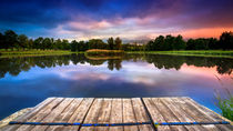 Strbsky rybnik - fishponds in the High Tatras by Zoltan Duray