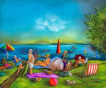 Badetag am See by Annelie Dachsel-Widmann