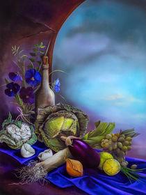 Stillleben auf lila Samt by Annelie Dachsel-Widmann