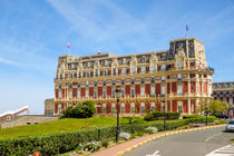 Luxury Hotel du Palais beach front in Biarritz. Aquitaine, French Basque Country, France by Perry  van Munster