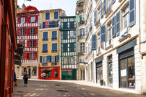 Colourful Street Bayonne France by Perry  van Munster