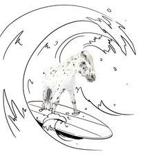 Urlaub-lir3847-surfen-auf-surfbrett
