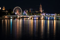 'Frankfurt am Nacht' von Iryna Mathes