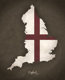 England Modern Map Artwork Design by Ingo Menhard