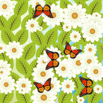 Daisies and butterflies von Gaspar Avila