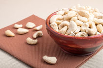 Raw cashew nuts for vegetarian food closeup by Vladislav Romensky