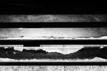 Metal Beams of Broken Paint Monochrome by John Williams