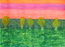 Trees, Green and Evening Sky von Heidi  Capitaine