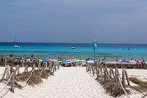 Mallorca-weg-zum-strand-von-cala-agulla-mit-gruner-flagge
