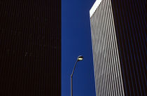 Lamp Post Between Buildings by Jim Corwin