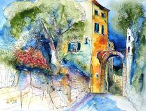 Corvara Ligurien Ansicht mit Torbogen by Hartmut Buse