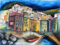 Riomaggiore Cinque Terre Ligurien by Hartmut Buse