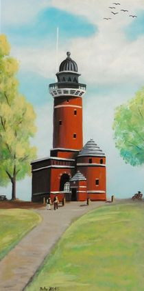 Leuchtturm Kiel Holtenauer Ufer von Barbara Kaiser