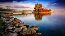 Balaton waterside and the Island Bath by Zoltan Duray