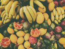 Tropical Summer Fruits In Fruit Market by Radu Bercan