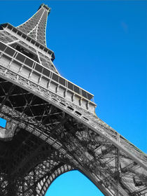 Eiffel tower Paris black and white with color by mrsplash
