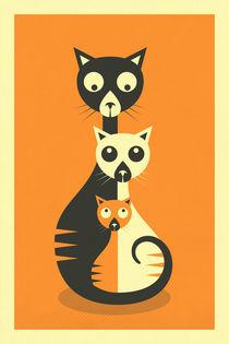 3 Cats von Jazzberry  Blue