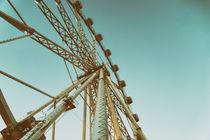 Giant Ferris Wheel In Fun Park On Night Sky by Radu Bercan
