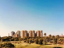 Valencia City Skyline In Spain by Radu Bercan