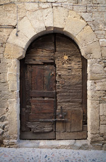 Old Spanish door by Leighton Collins