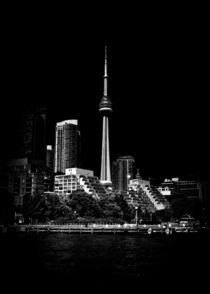 CN Tower From Bathurst Quay Toronto Canada by Brian Carson