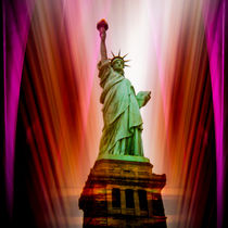 Freiheitsstatue New York 3 by Walter Zettl