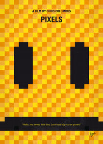 No703 My pixels minimal movie poster von chungkong