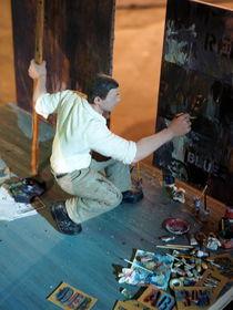 Künstler bei der Arbeit von chain-elle-art