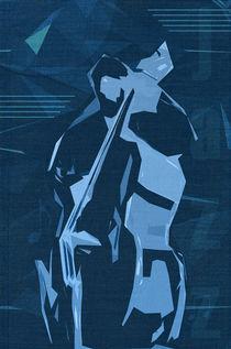 Jazz Contrabass Poster von cinema4design