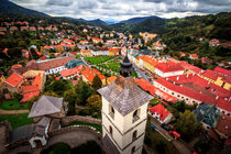Kremnica St. Catherine church view on square, Slovakia by Zoltan Duray