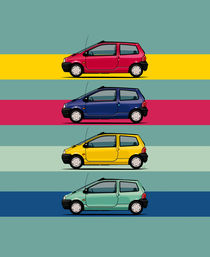 Renault Twingo 90s Colors Quartet by monkeycrisisonmars