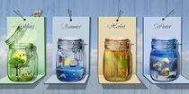 Jahreszeiten in Gläsern von Monika Juengling