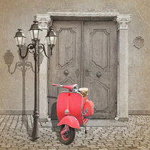 Vespa - Roller in Pink by Monika Juengling