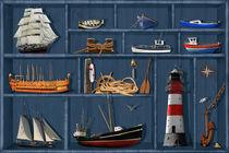 Der maritime Setzkasten - The maritime case cabinet von Monika Juengling