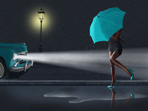 Rainy Day Variante 2 in Petrol by Monika Juengling