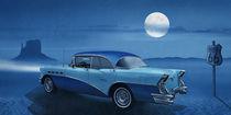 Blue night on Route 66 von Monika Juengling
