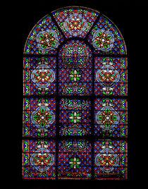 Notre Damme leadglass window by Juan Carlos Lopez