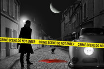 Crime scene do not enter von Monika Juengling