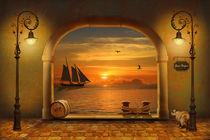Das goldene Tor zum Hafen von Monika Juengling