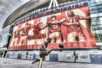 Dennis Bergkamp Statue Emirates Stadium von David Pyatt