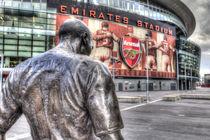 Thierry Henry Statue Emirates Stadium by David Pyatt