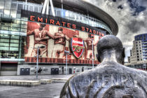 Thierry Henry Statue Emirates Stadium by David Pyatt