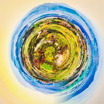 green nature with blue sky in small planet von timla