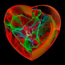 Herz Chakra grün und rot von Matthias Hauser