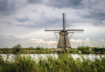 Windmill with clouds and reed by Erik Mugira
