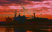 The Docks (Digital Art) by John Wain