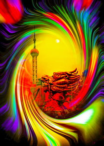 Sanghai - Oriental Pearl Tower 2 by Walter Zettl
